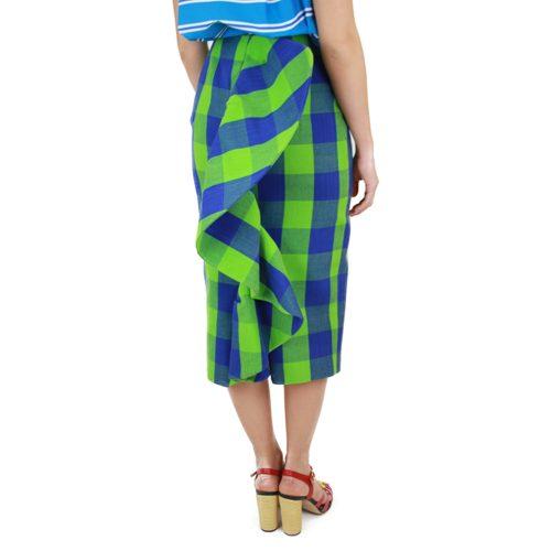 Abbigliamento STELLA JEAN - gonna al ginocchio   OneMore drappeggio dietro quadri grandi (2)