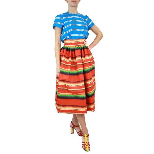 Abbigliamento STELLA JEAN - gonna ampia | OneMore arancione righe (2)