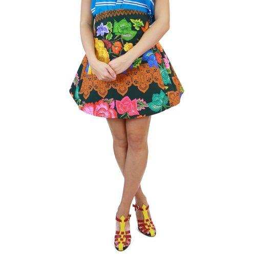 Abbigliamento STELLA JEAN - gonna corta svasata | OneMore verde (1)