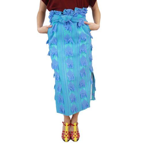 Abbigliamento STELLA JEAN - gonna lunga | OneMore azzurro applicazioni (1)