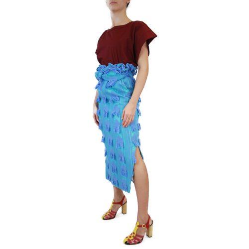 Abbigliamento STELLA JEAN - gonna lunga | OneMore azzurro applicazioni (2)
