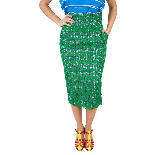 Abbigliamento STELLA JEAN - gonna pizzo | OneMore verde (1)