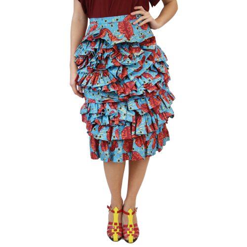 Abbigliamento STELLA JEAN - gonna rouches | OneMore azzurro (1)