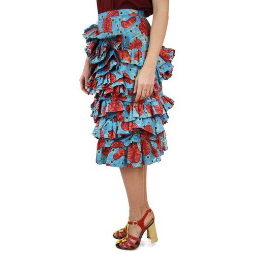 Abbigliamento STELLA JEAN - gonna rouches | OneMore azzurro (2)