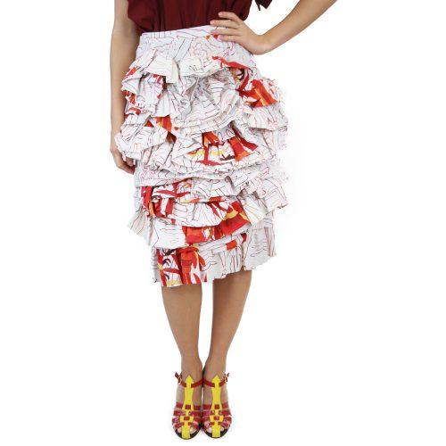 Abbigliamento STELLA JEAN - gonna rouches | OneMore bianco (1)