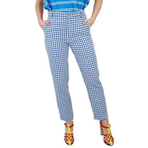 Abbigliamento STELLA JEAN - pantalone capri | OneMore quadretto azzurro (1)
