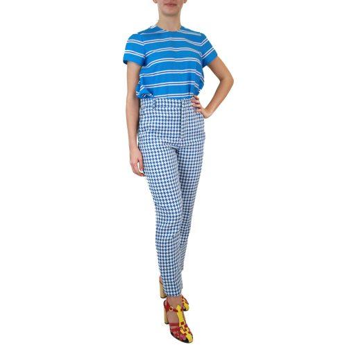 Abbigliamento STELLA JEAN - pantalone capri | OneMore quadretto azzurro (2)