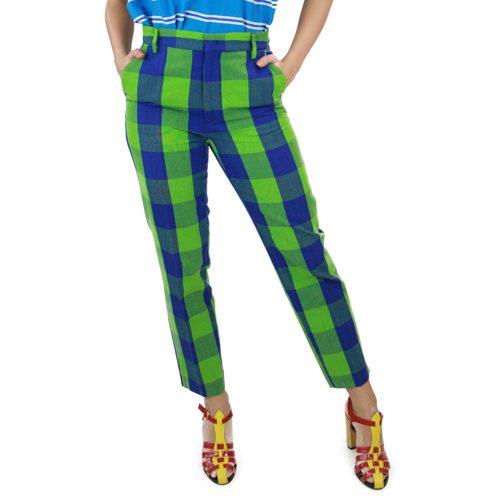Abbigliamento STELLA JEAN - pantalone capri | OneMore quadri verdi (1)