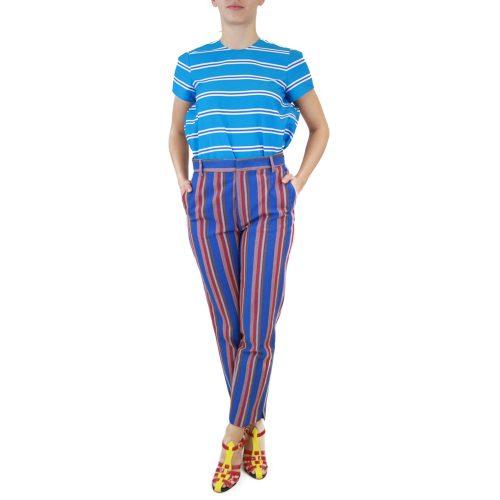 Abbigliamento STELLA JEAN - pantalone capri | OneMore righe blu (1)