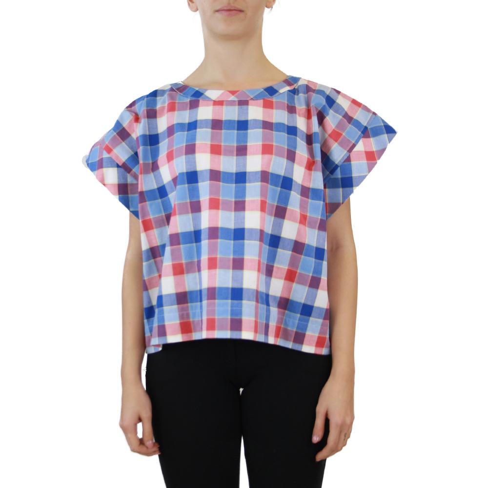 Abbigliamento STELLA JEAN - top girocollo | OneMore quadretti blu (1)