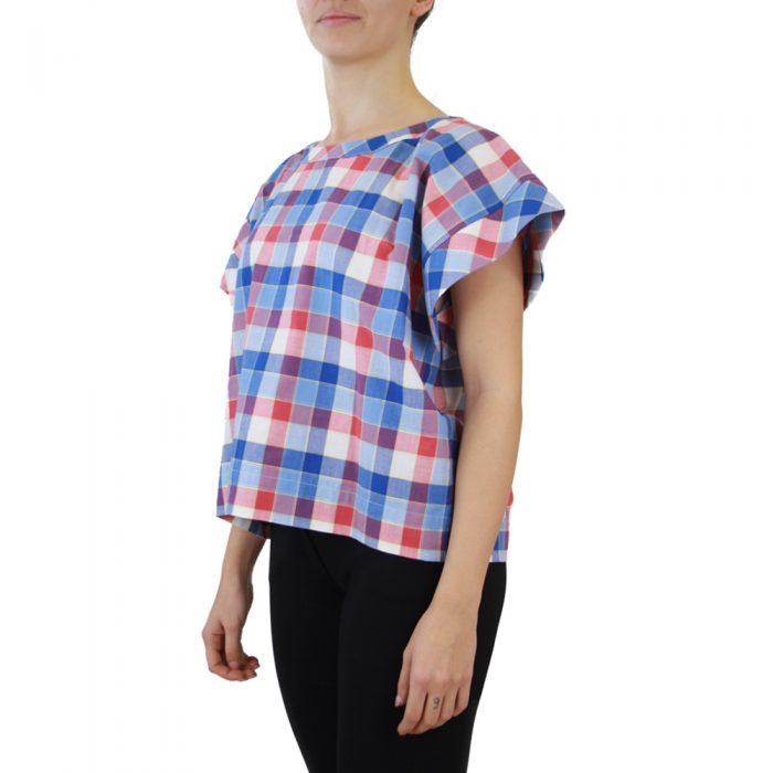 Abbigliamento STELLA JEAN - top girocollo | OneMore quadretti blu (2)