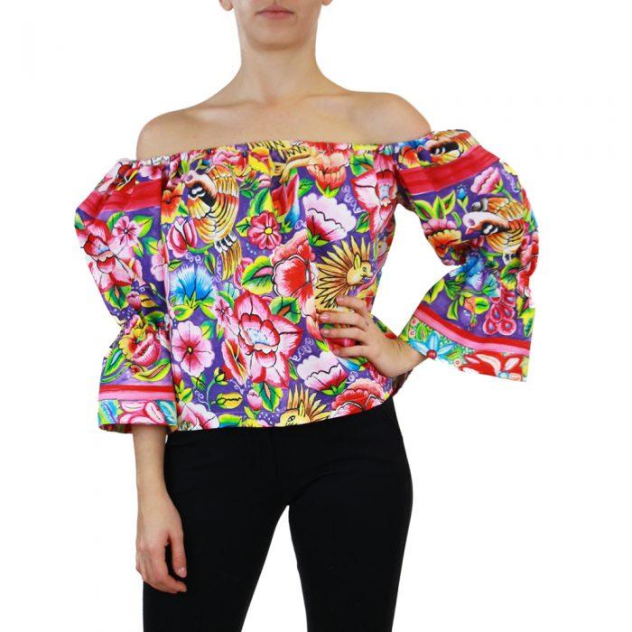 Abbigliamento STELLA JEAN - top manica 3:4 | OneMore fiori (1)