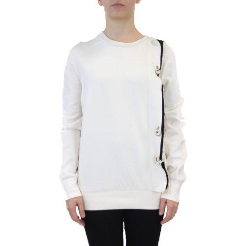 Abbigliamento COLIAC - felpa con piercing | OneMore bianco (1)