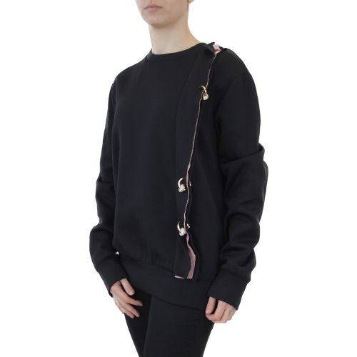Abbigliamento COLIAC - felpa con piercing | OneMore nero (2)