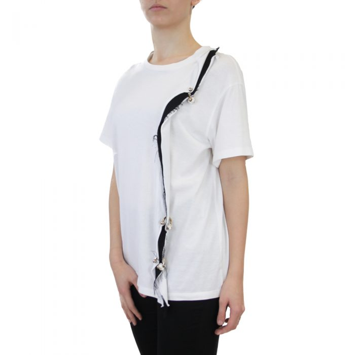 Abbigliamento COLIAC - t-shirt con piercing   OneMore bianco