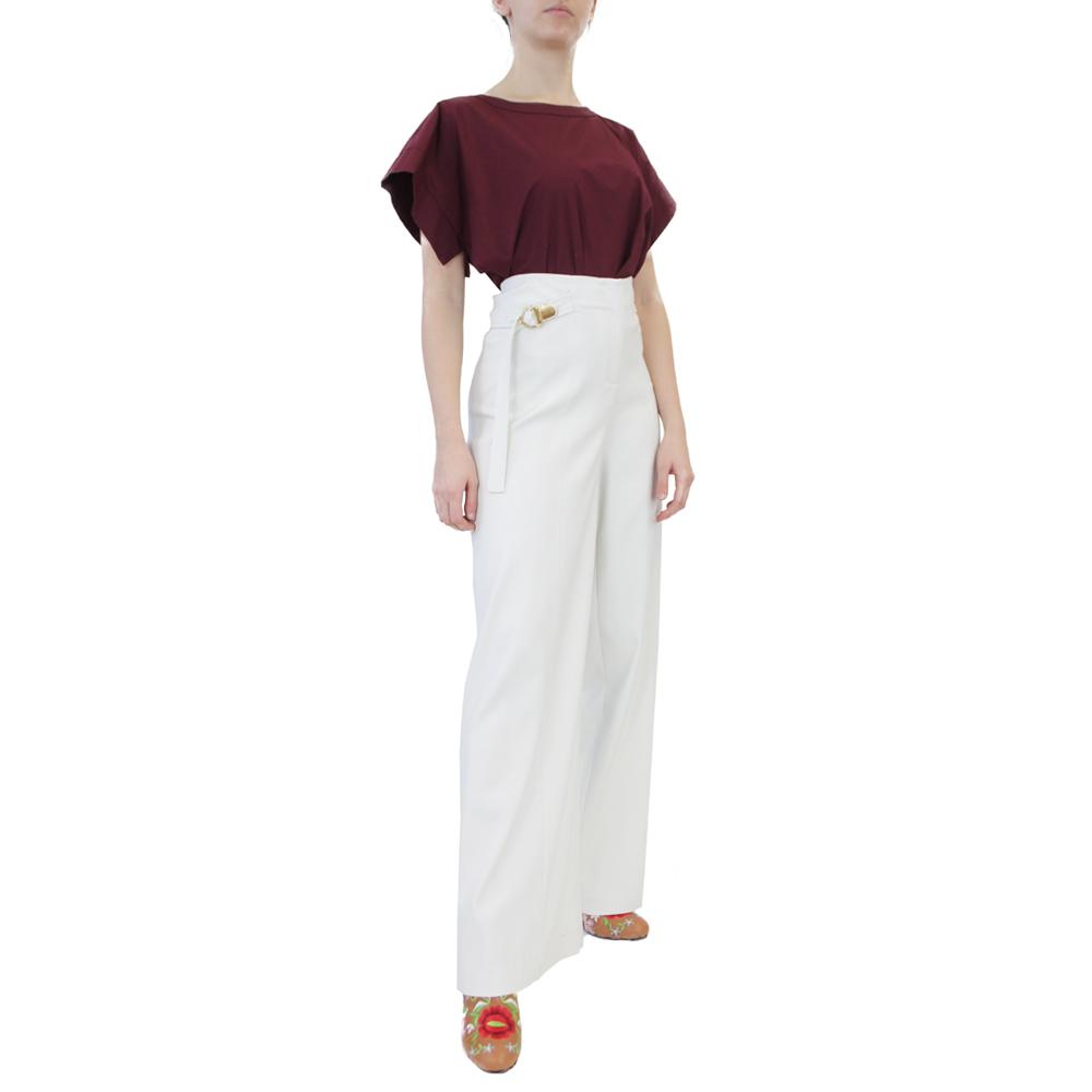 Abbigliamento COLIAC - pantalone ampio bianco   OneMore